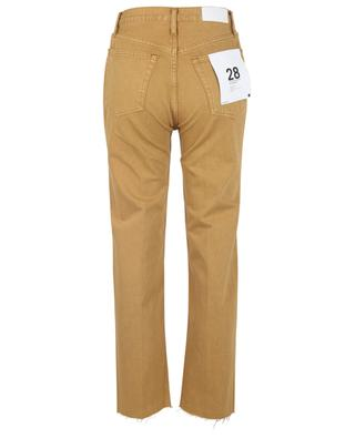 Jean droit taille haute 70s Stove Pipe Washed Mustard RE/DONE