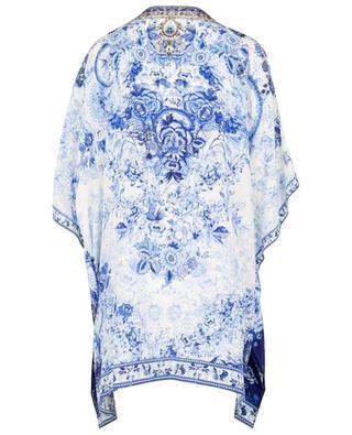 High Tea Lace-Up printed silk caftan CAMILLA
