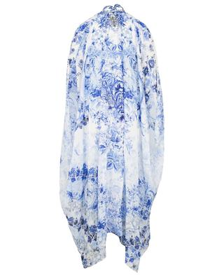 High Tea Multi Wear Draped Layer silk beach cape CAMILLA