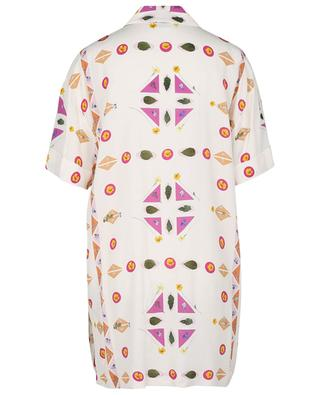 Mini robe chemise en crêpe Pressed Botanical VICTORIA VICTORIA BECKHAM