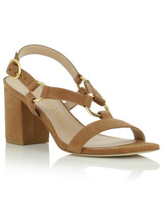 Sandales à talon et bout carré en daim Lalita 75 Blok STUART WEITZMAN