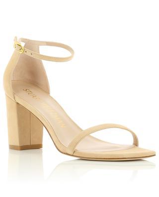 Sandales à talon carré en daim Amelina Block 80 STUART WEITZMAN