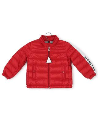 Alber baby down jacket with grosgrain and logo MONCLER