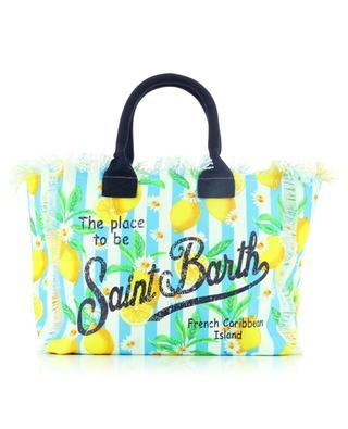 Grosser Shopper aus Segeltuch mit Print Vanity Citrus MC2 SAINT BARTH