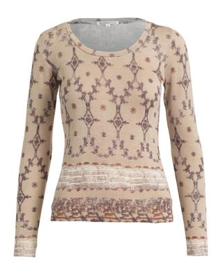 Silk, wool and cashmere long sleeved top PASHMA