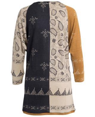 Tunique imprimée en soie, laine et cachemire PASHMA