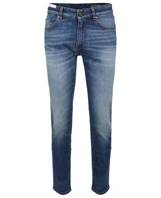 Schmal geschnittene Jeans aus ausgewaschenem Denim Rock PT TORINO DENIM
