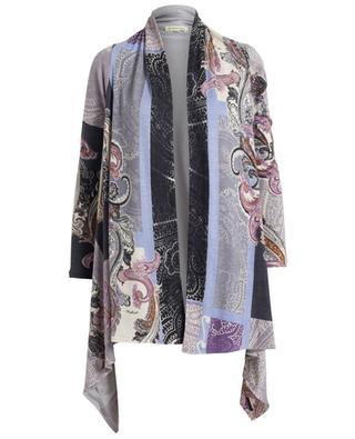 Cardigan imprimé en soie, laine et cachemire PASHMA