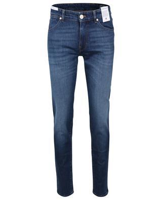 Schmal geschnittene Jeans aus Denim in Indigoblau Swing PT TORINO DENIM