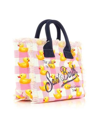 Colette Extra Ducky Vichy printed canvas tote bag MC2 SAINT BARTH