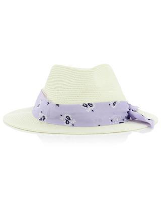 Chapeau de soleil avec ruban Bandanna Round MC2 SAINT BARTH