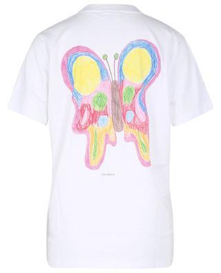T-shirt boxy imprimé avec logo en coton biologique GANNI