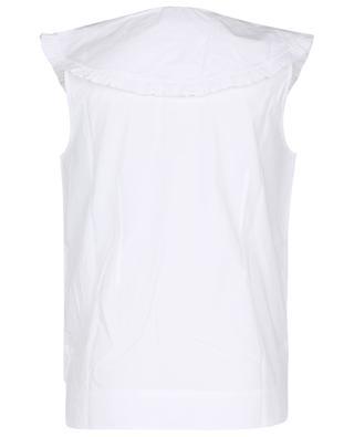 Ärmelloses Boxy-Hemd aus Bio-Baumwolle mit Oversize-Kragen GANNI