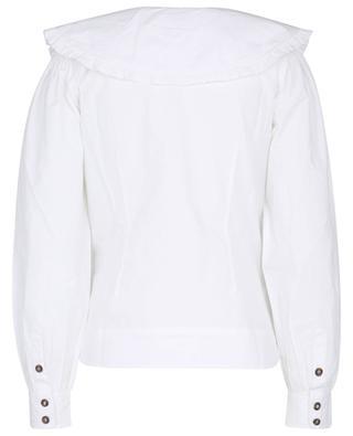 Schmales Hemd aus Bio-Baumwolle mit Oversize-Kragen GANNI