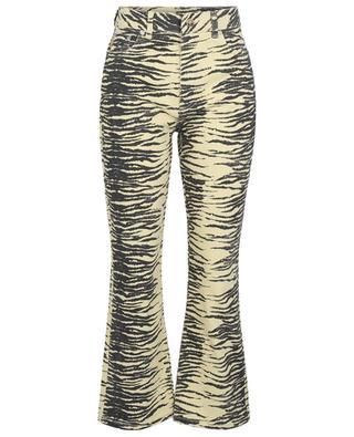 Jean bootcut taille haute imprimé zèbre Pale Banana GANNI