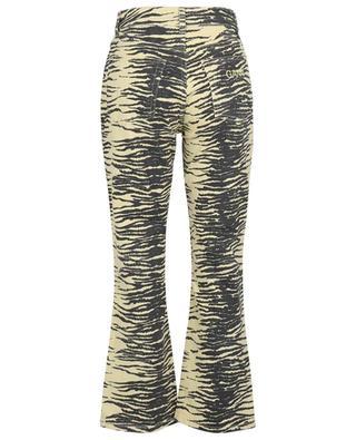 Bootcut-Jeans mit hohem Bund und Zebra-Print Pale Banana GANNI