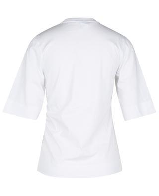 T-Shirt mit Raffungen aus Bio-Baumwolljersey GANNI