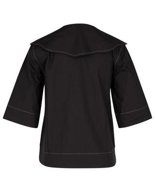 Hemd aus Bio-Baumwolle mit Oversize-Kragen GANNI