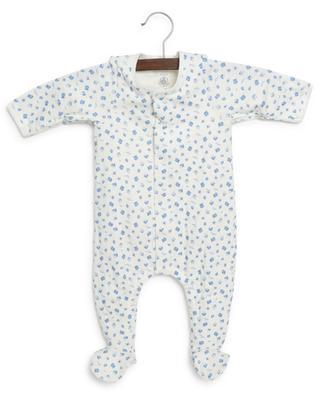 Organic cotton baby bodysuit with boat print PETIT BATEAU