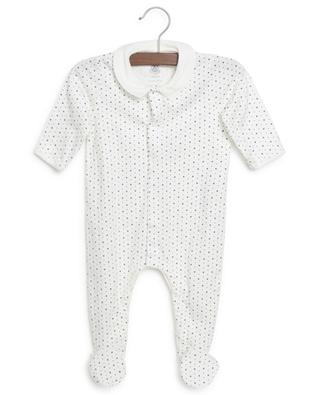 Organic cotton baby sleep all-in-one with star print PETIT BATEAU