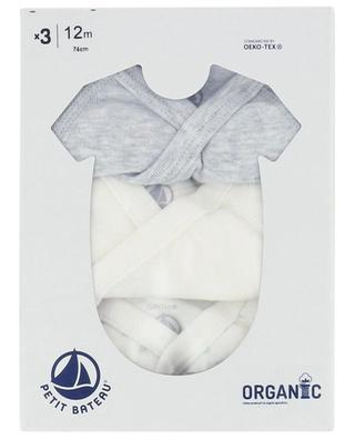 Set of three baby bodysuits PETIT BATEAU