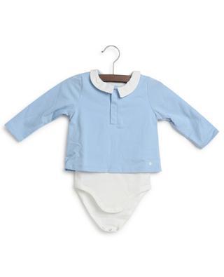 Polo bébé à manches longues avec body intégré PETIT BATEAU