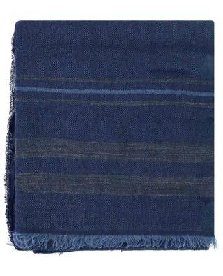 Leichter gestreifter Schal aus Leinen und Seide BRUNELLO CUCINELLI