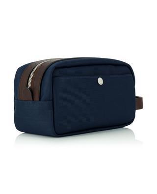 Kulturtasche aus Nylon und genarbtem Leder BRUNELLO CUCINELLI
