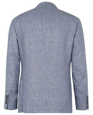 Blazer en lin, laine et soie à boutonnage simple BRUNELLO CUCINELLI