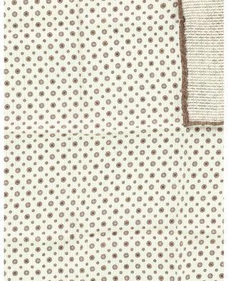Wendbares Einstecktuch aus Seide, Kreise und Blumen BRUNELLO CUCINELLI