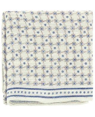 Pochette en lin et coton motif quadrillage BRUNELLO CUCINELLI