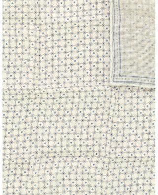 Einstecktuch aus Leinen und Baumwolle mit Gittermuster BRUNELLO CUCINELLI