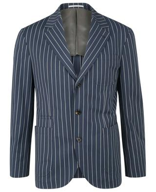 Costume rayé en coton stretch BRUNELLO CUCINELLI