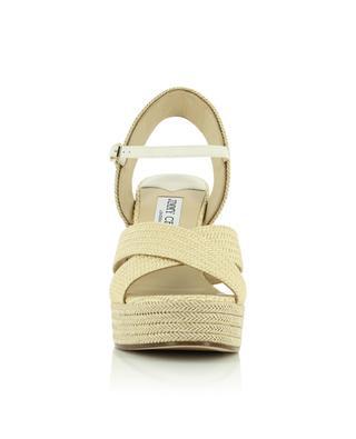 Dellena 100 raffia wedge sandals JIMMY CHOO