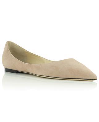 Love Flat suede pointed toe ballerinas JIMMY CHOO