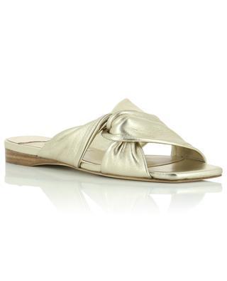 Narisa Flat golden nappa leather sandals JIMMY CHOO