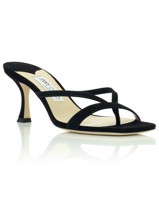 Maelie 70 open heeled suede slides JIMMY CHOO