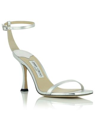 Marin 90 heeled sandals in silver tone leather JIMMY CHOO