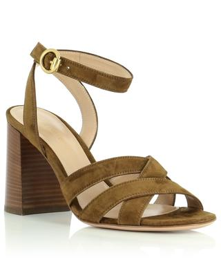 Beya heel sandals in suede leather GIANVITO ROSSI