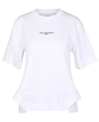 Stella Logo 2001. Drape sustainable cotton T-shirt STELLA MCCARTNEY