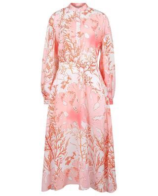 Asymmetrisches Kleid aus Seide mit Korallenprint Alyssa STELLA MCCARTNEY