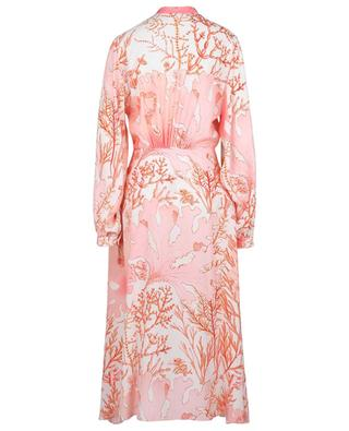 Alyssa coral printed asymmetrical silk dress STELLA MCCARTNEY