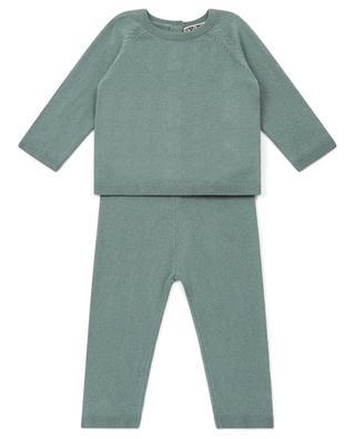 Ensemble bébé en maille de coton et cachemire BONTON