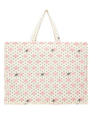 Heart Maxi large girls' canvas tote bag BONTON