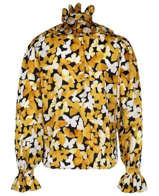 Blouse en jacquard de soie imprimée papillons SAINT LAURENT PARIS