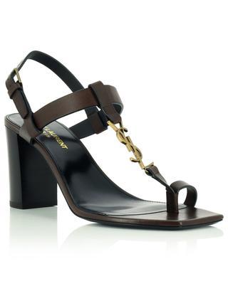 Cassandra 75 block heel leather sandals SAINT LAURENT PARIS