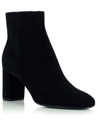Loulou 70 Zip suede ankle boots SAINT LAURENT PARIS