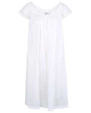 Lockeres Nachthemd aus Klöppelspitze und Baumwoll-Voile Amina-2 CELESTINE