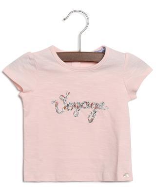 T-shirt bébé brodé message Madras TARTINE ET CHOCOLAT