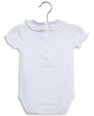 Body bébé en jersey à col smocké Escale aux Grenadines TARTINE ET CHOCOLAT